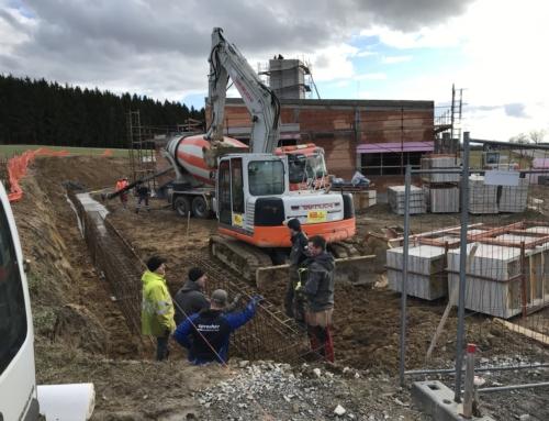 Fundament für die Stützmauer am 18.02.2020