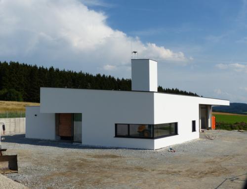 Innen- und Außenansichten des neuen Feuerwehrhauses; KW 30