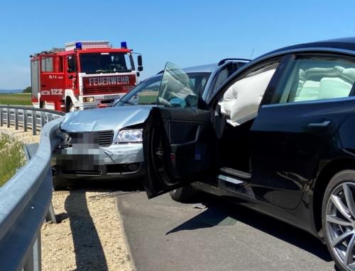 B38, Verkehrsunfall mit zwei beteiligten Fzg.en, am 01.08.2020