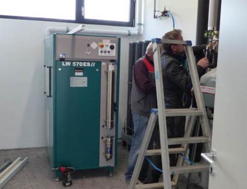 Kompressor für die Atemluft-Füllstation, am 07.10.2020