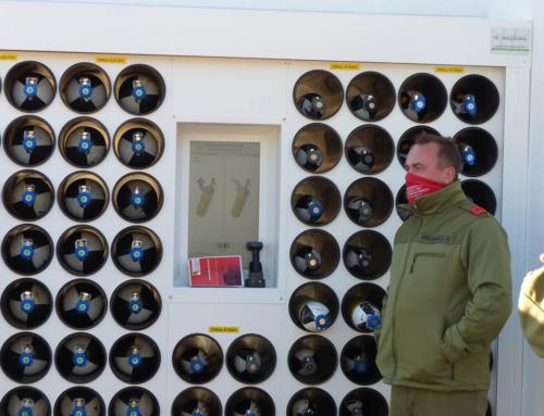 Atemluft-Flaschenpool ist in Betrieb, am 06 und 07.11.2020