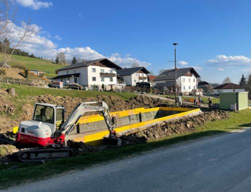 Löschwasserteich – Sanierung durch FF Grünbach, am 26.04.2021